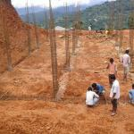 Local Napalis laid the new school foundation
