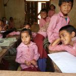 Teaching continues while the Shree Nawa Durga Lower Secondary School in Gorkha, Nepal is rebuilt