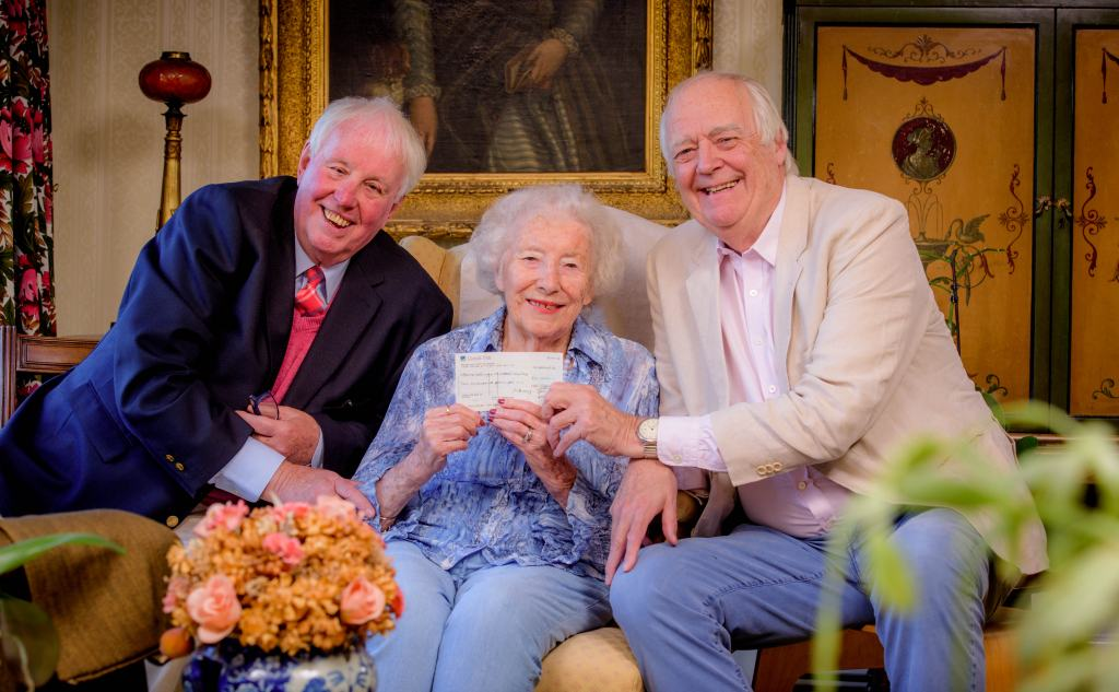 charity cheque for dame vera lynn