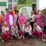 Bio-Production staff sport pink