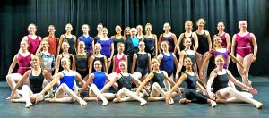 All the students who enjoyed a dance masterclass from Wayne Sleep at Hurstpierpoint College