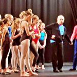 Wayne Sleep on stage with Victoria (Ginny) Lewis-Jones